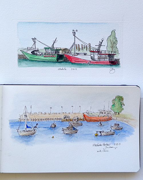 Sketches of Ulladulla Harbour