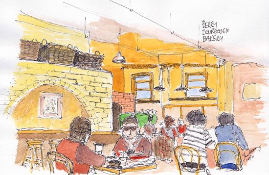 Inside Berry Sourdough Bakery