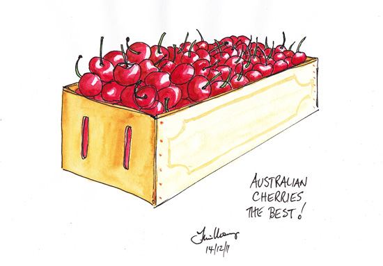 A box of Cherries from My Gwynne, Vic
