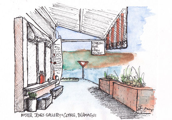 sketch of coffee shop