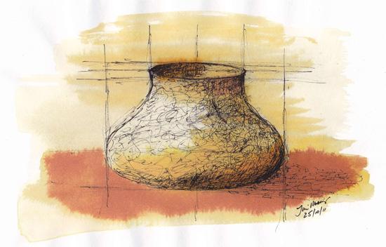 sketch of bowl