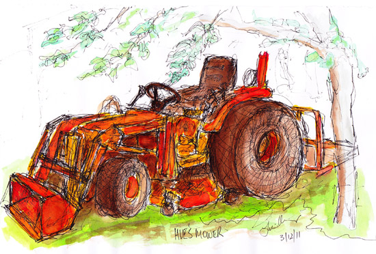 Tractor in Shade of a tree