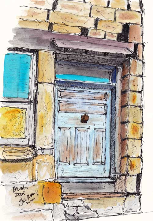 Old stone doorway in Balmain, Sydenyy, Australia