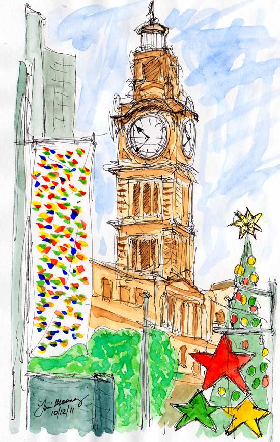 Christmas time in Martin Place, Sydney